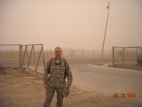 Tim in Dust Storm